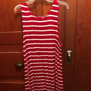 Old Navy XXL red and white striped swing dress